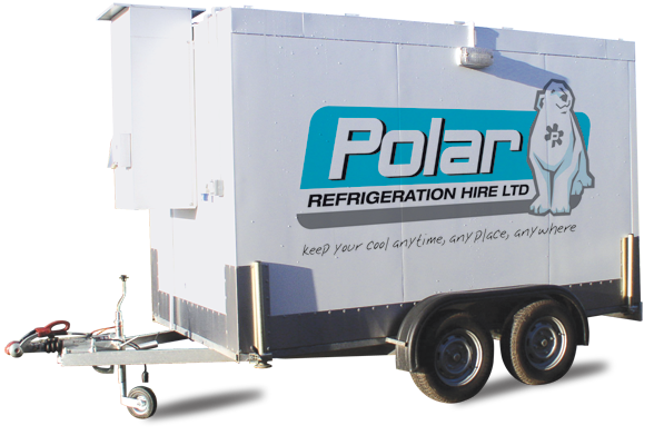Portable Freezer Trailer : Refrigeration hire midlands polar ltd